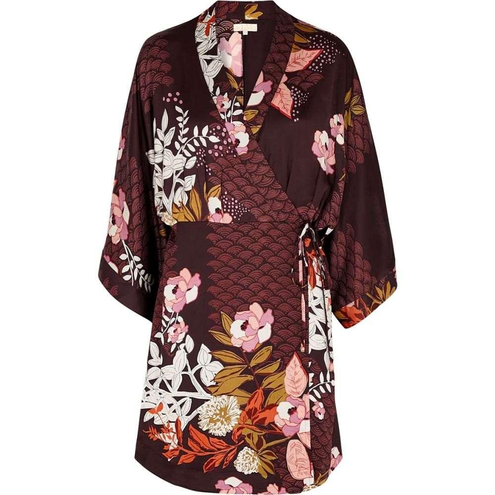 ティモ byTiMo レディース ワンピース ラップドレス ワンピース・ドレス【Burgundy Floral-Print Wrap Dress】Red
