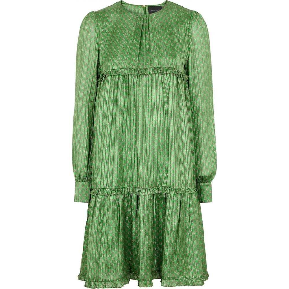 ビギッテ ヘアスキン Birgitte Herskind レディース ワンピース ワンピース・ドレス【Conny Printed Satin Dress】Green