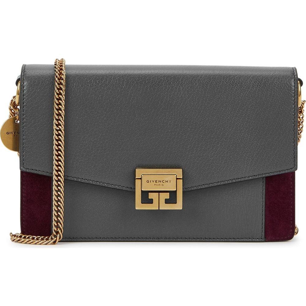 ジバンシー Givenchy レディース 財布 チェーンウォレット【Gv3 Leather And Suede Wallet-On-Chain】Grey