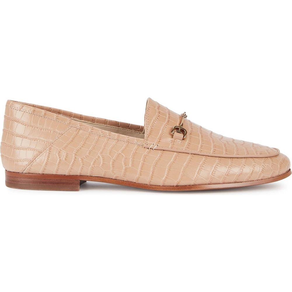 サム エデルマン Sam Edelman レディース ローファー・オックスフォード シューズ・靴【Loraine Crocodile-Effect Leather Loafers】Nude