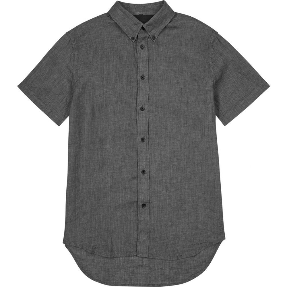 ラグ&ボーン rag & bone メンズ 半袖シャツ トップス【Grey Linen Shirt】Grey