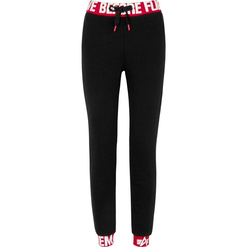 アルファ インダストリーズ Alpha Industries レディース スウェット・ジャージ ボトムス・パンツ【Black Cotton-Blend Sweatpants】Black