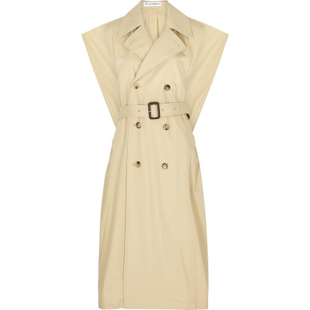 J.W.アンダーソン JW Anderson レディース トレンチコート ダブルブレストコート アウター【Sand Double-Breasted Cotton Trench Coat】Natural