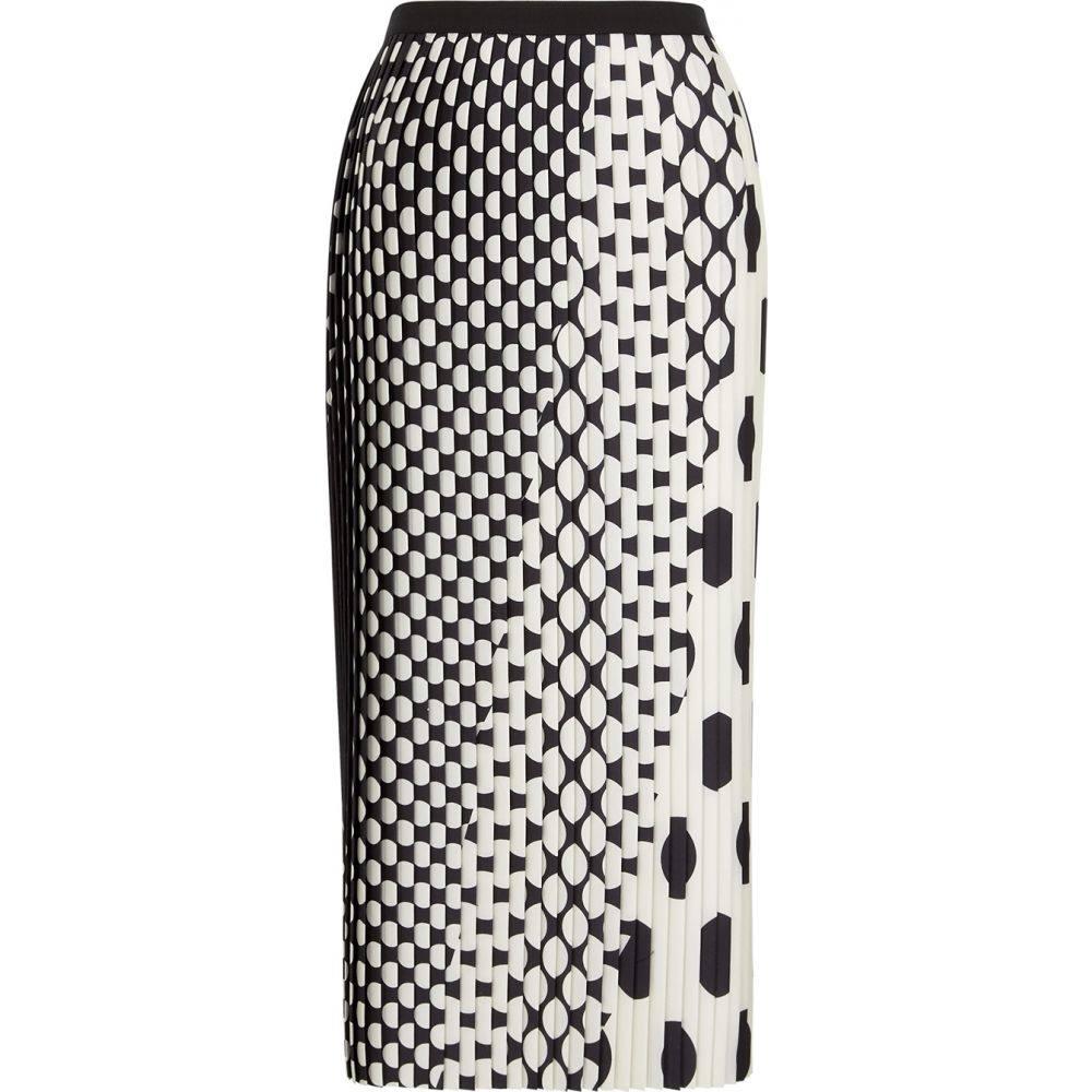 ドリス ヴァン ノッテン Dries Van Noten レディース ひざ丈スカート スカート【Sarean Monochrome Pleated Midi Skirt】Black