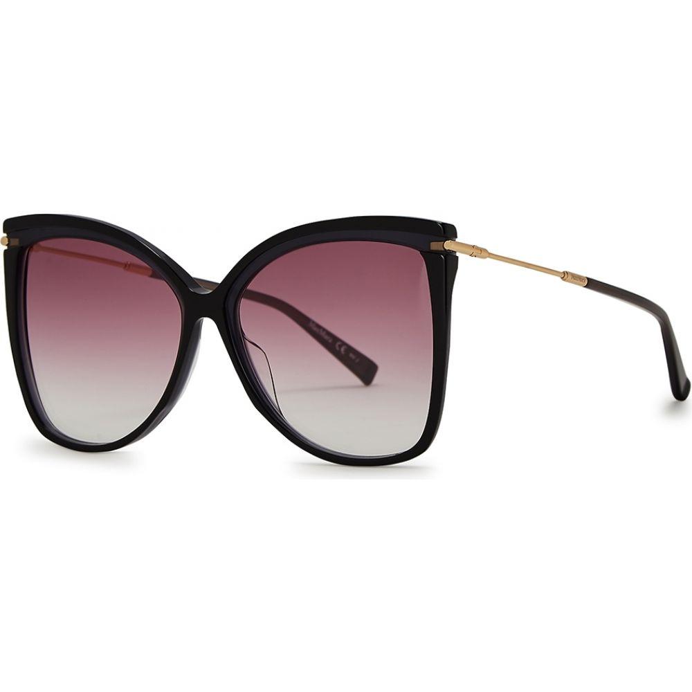 Max Mara Classy Iii//S 0CW0 Rose Gold Black HD gray gradient lens Sunglasses