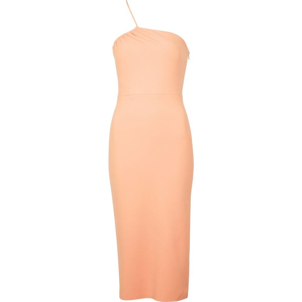 ベック アンド ブリッジ Bec & Bridge レディース パーティードレス ワンショルダー ミドル丈 ワンピース・ドレス【Ruby Peach One-Shoulder Midi Dress】Orange