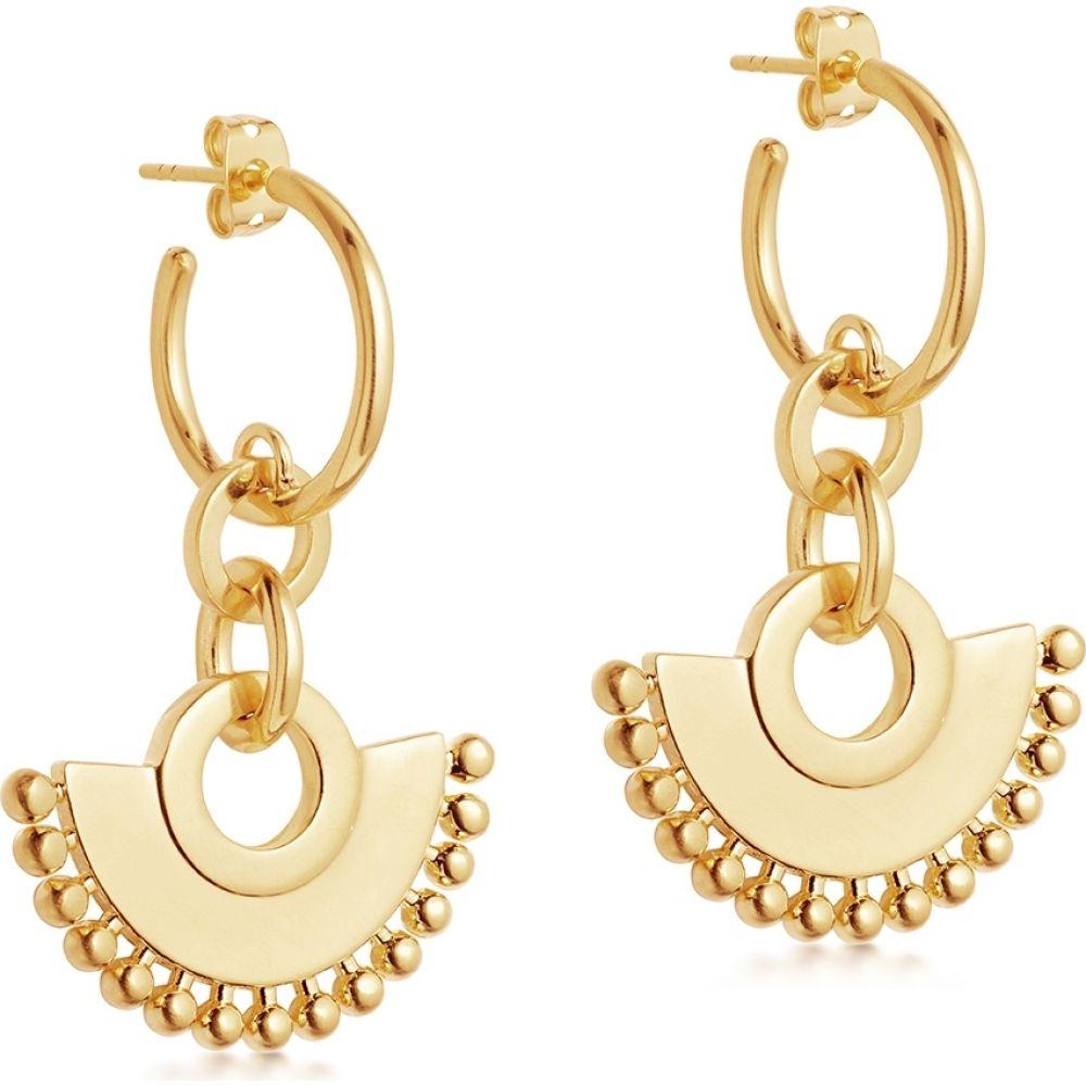 レディース Missoma ジュエリー・アクセサリー【Calima 18Kt Chandelier イヤリング・ピアス ミッソーマ Vermeil Hoop Earrings】Gold Gold