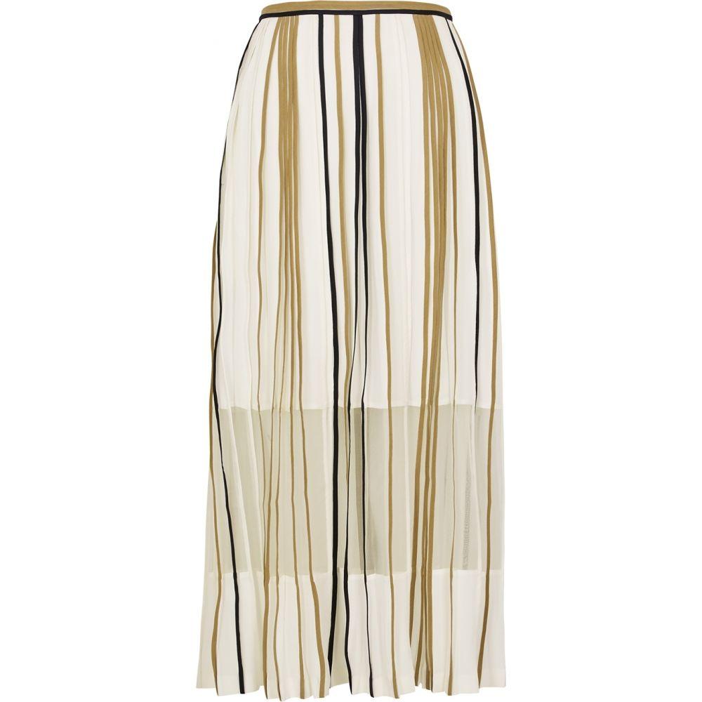 ボディス Bodice レディース ひざ丈スカート スカート【Ivory Pleated Silk Midi Skirt】Natural