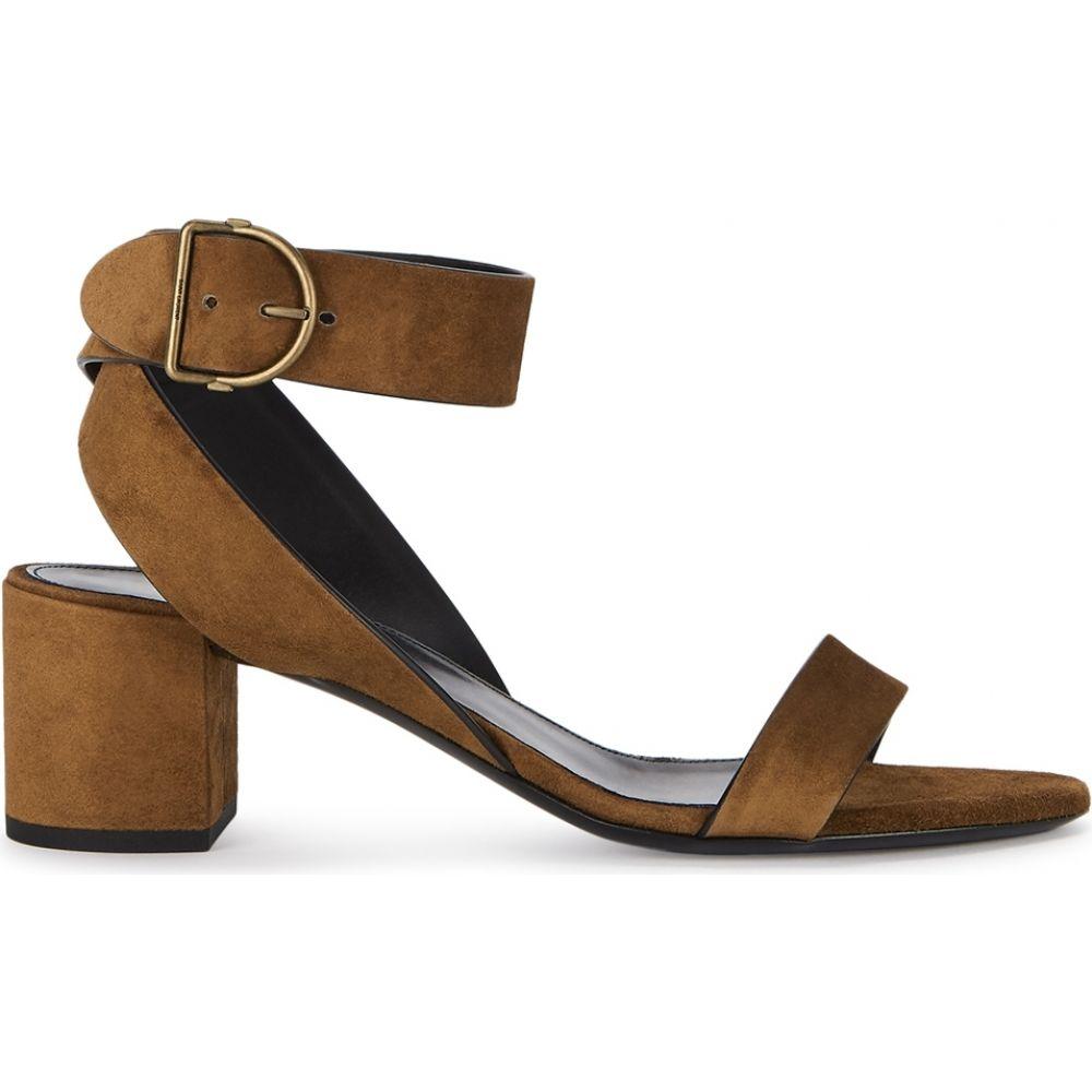 イヴ サンローラン Saint Laurent レディース サンダル・ミュール シューズ・靴【Charlie 55 Brown Suede Sandals】Brown
