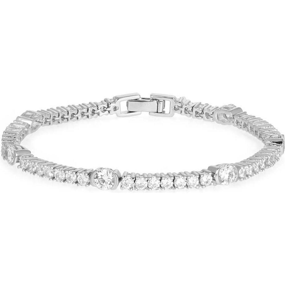 V ローラヴァン V by Laura Vann レディース ブレスレット ジュエリー・アクセサリー【Luna Crystal-Embellished Sterling Silver Bracelet】Silver