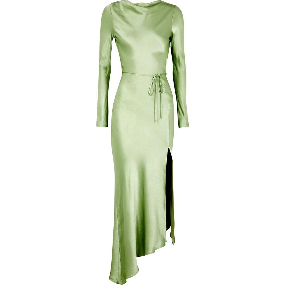 ベック アンド ブリッジ Bec & Bridge レディース パーティードレス ミドル丈 ワンピース・ドレス【Crest Light Green Satin Midi Dress】Green