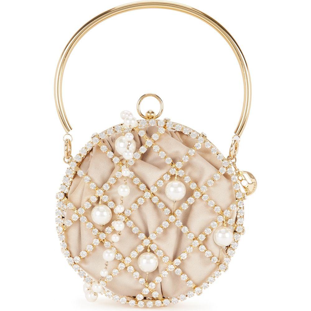 ロザンティカ Rosantica レディース ショルダーバッグ バッグ【Ines Crystal-Embellished Cross-Body Bag】Pink