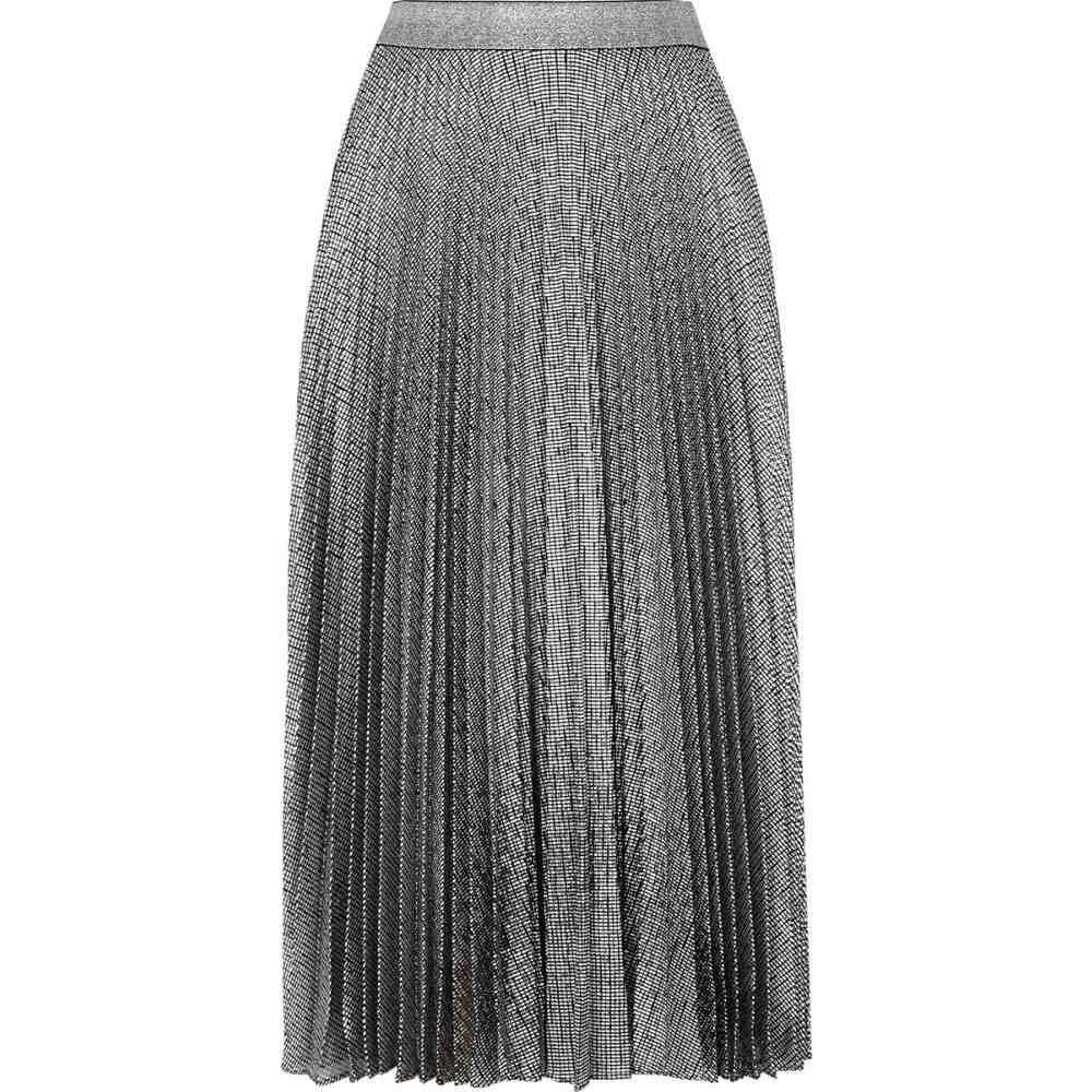 クリストファー ケイン Christopher Kane レディース ひざ丈スカート スカート【Silver Pleated Lame Midi Skirt】Black