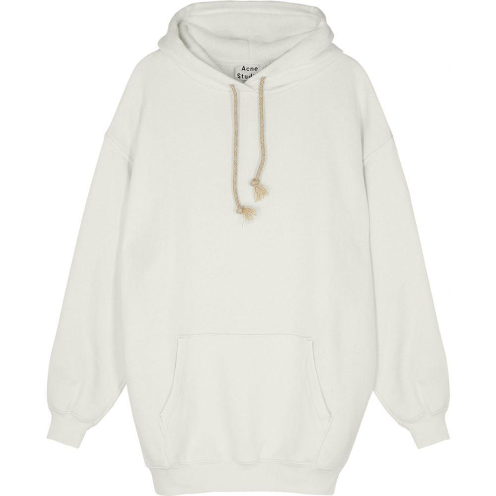 アクネ ストゥディオズ Acne Studios レディース パーカー トップス【Fanita White Hooded Jersey Sweatshirt】White