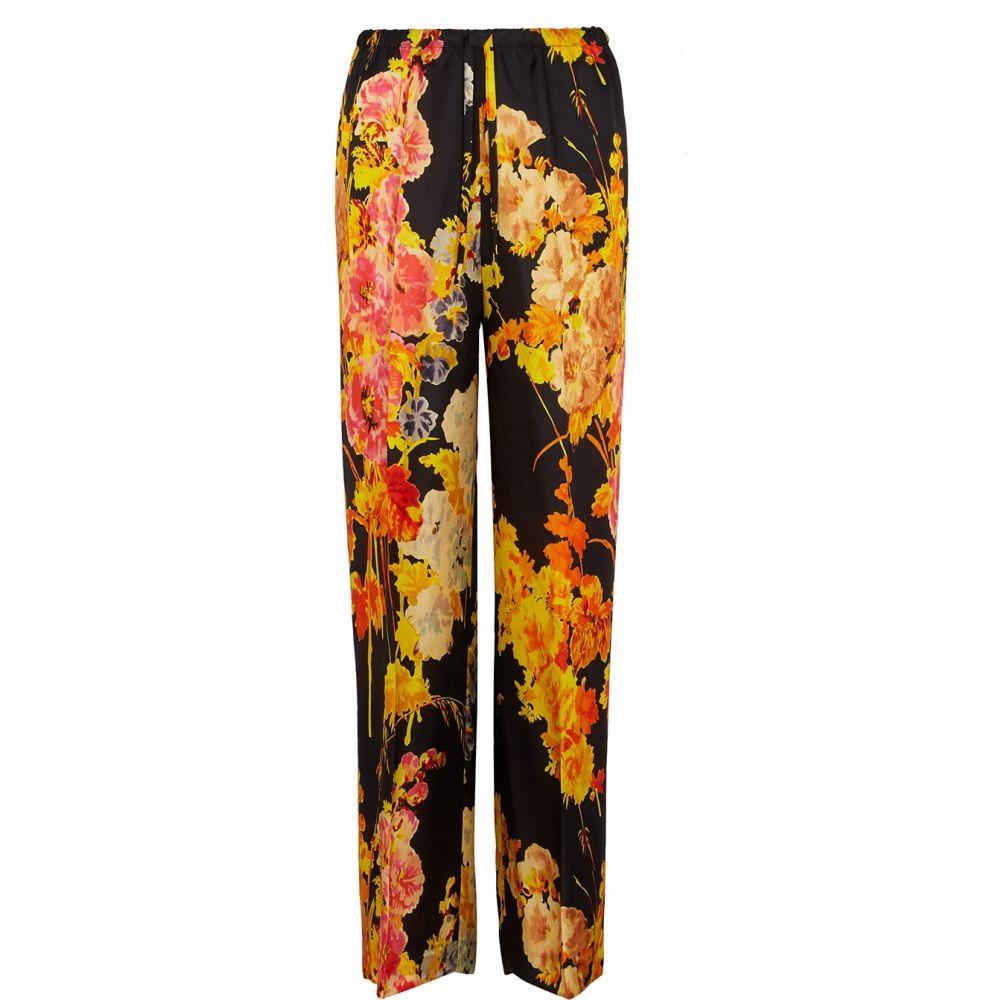 ドリス ヴァン ノッテン Dries Van Noten レディース ボトムス・パンツ 【Puvis Floral-Print Straight-Leg Trousers】Black