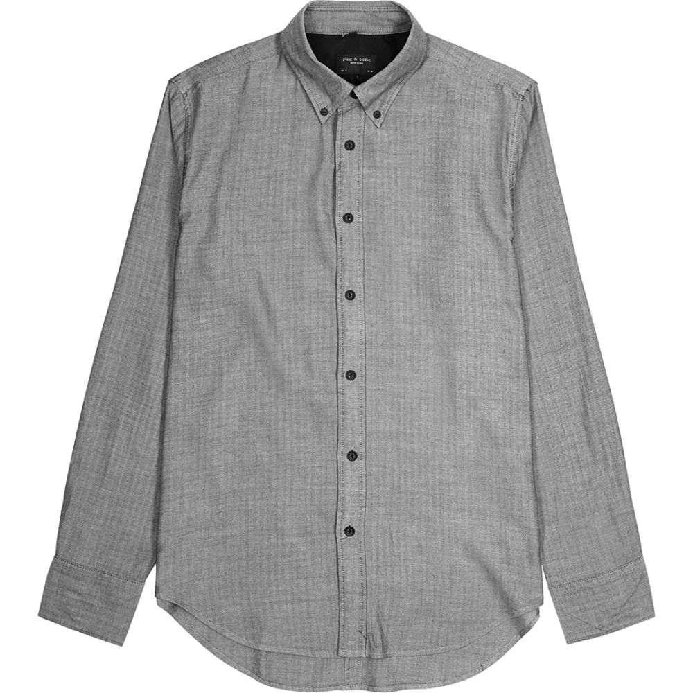 ラグ&ボーン rag & bone メンズ シャツ トップス【Tomlin Herringbone-Weave Cotton-Blend Shirt】Grey