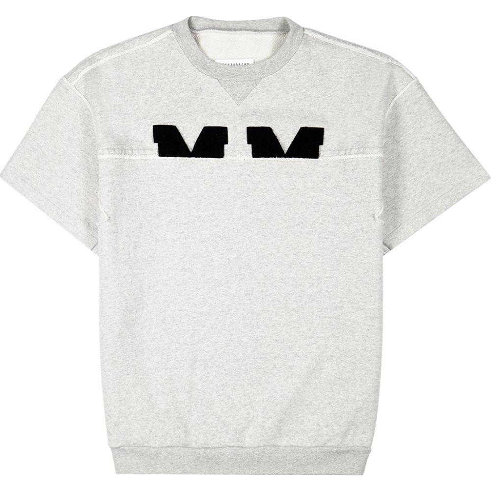 メゾン マルジェラ Maison Margiela メンズ スウェット・トレーナー トップス【Grey Panelled Jersey Sweatshirt】Grey