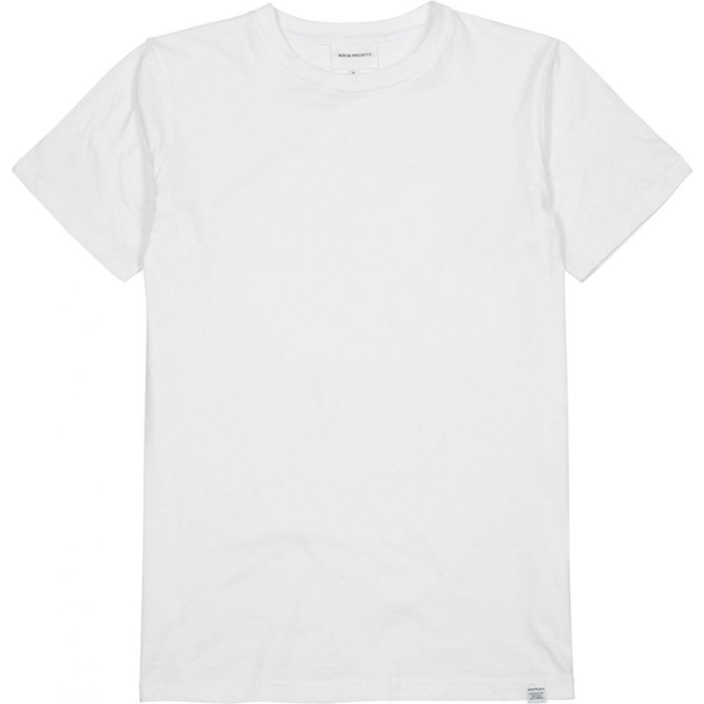 ノースプロジェクト Norse Projects メンズ Tシャツ トップス【Neils White Cotton T-Shirt】White