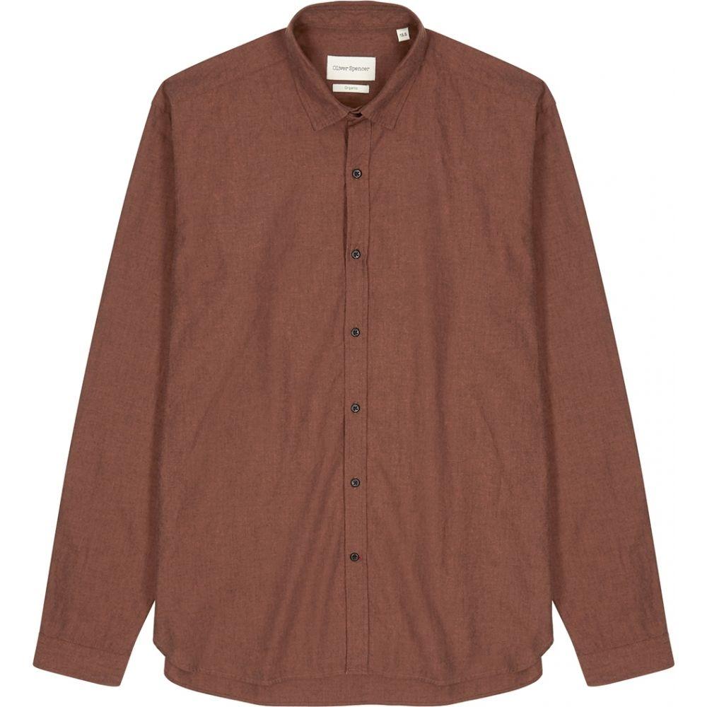 オリバー スペンサー Oliver Spencer メンズ シャツ トップス【Clerkenwell Burnt Orange Cotton Shirt】Red