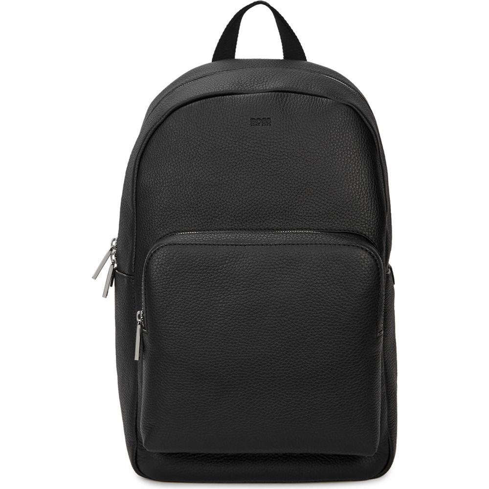 ヒューゴ ボス BOSS メンズ バックパック・リュック バッグ【Crosstown Black Leather Backpack】Black