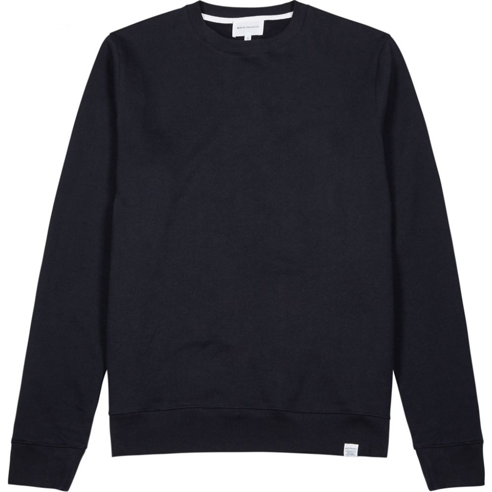 ノースプロジェクト Norse Projects メンズ スウェット・トレーナー トップス【Vagn Navy Cotton Sweatshirt】Navy