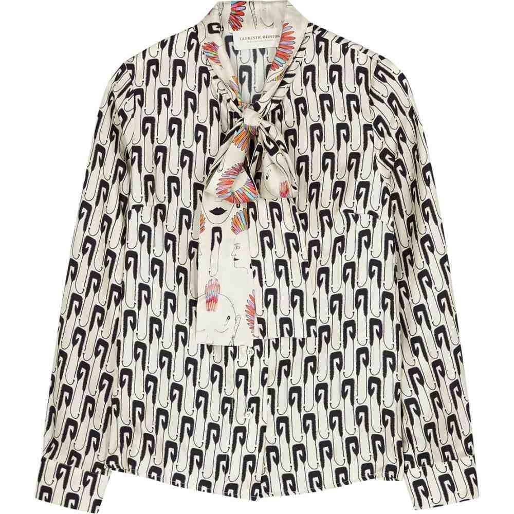 ラ プレスティック ウィストン La Prestic Ouiston レディース ブラウス・シャツ トップス【Cipriana Printed Silk Blouse】Multi