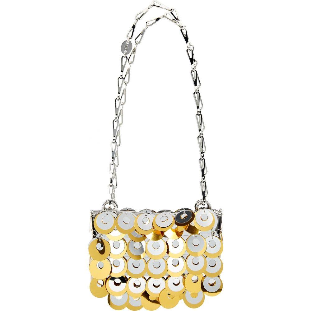 パコラバンヌ Paco Rabanne レディース ショルダーバッグ バッグ【Sparkle Nano Gold And Silver-Tone Shoulder Bag】Silver