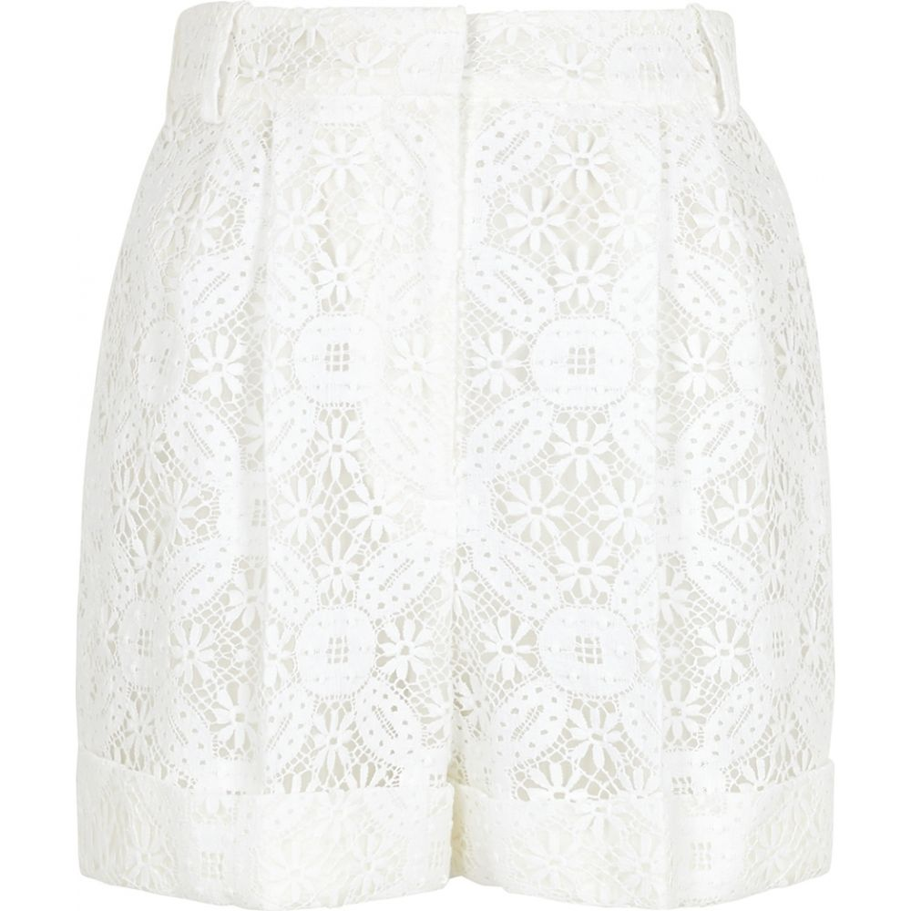 アレキサンダー マックイーン Alexander McQueen レディース ショートパンツ ボトムス・パンツ【White Guipure Lace Shorts】White