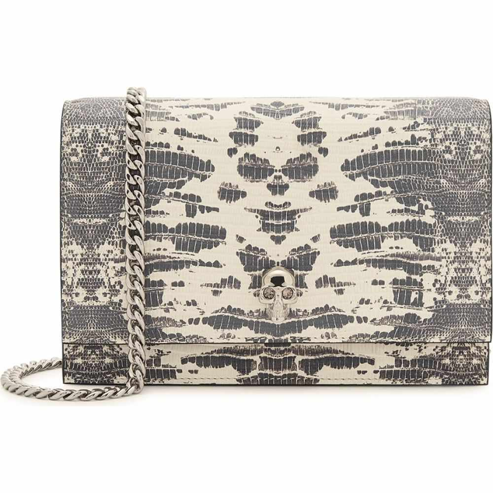 アレキサンダー マックイーン Alexander McQueen レディース ショルダーバッグ バッグ【Mini Crocodile-Effect Leather Shoulder Bag】Grey