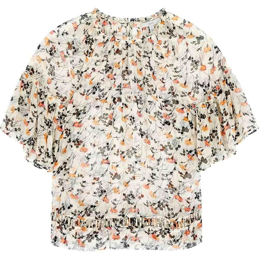 ジョア JOIE レディース ブラウス・シャツ トップス【Imani Floral-Print Silk Blouse】White