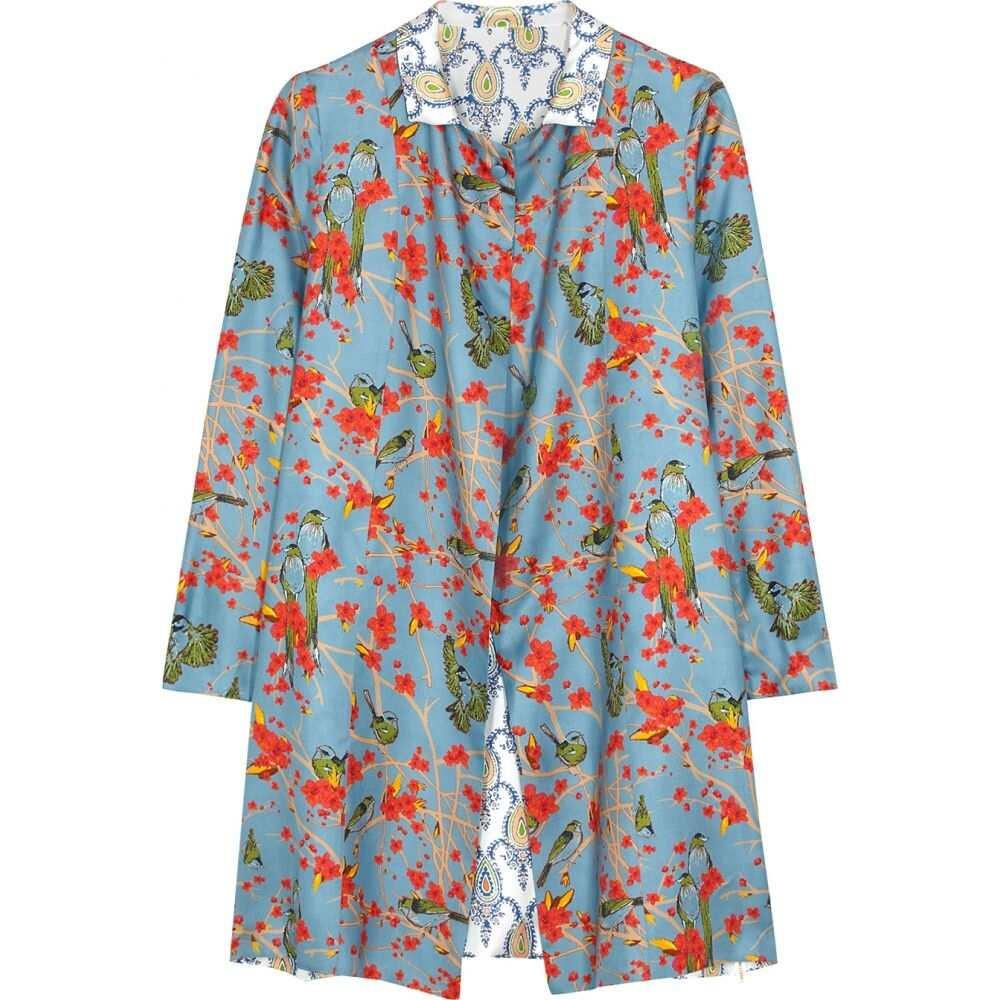 ラ プレスティック ウィストン La Prestic Ouiston レディース ジャケット アウター【Liberte Reversible Printed Silk Jacket】Blue