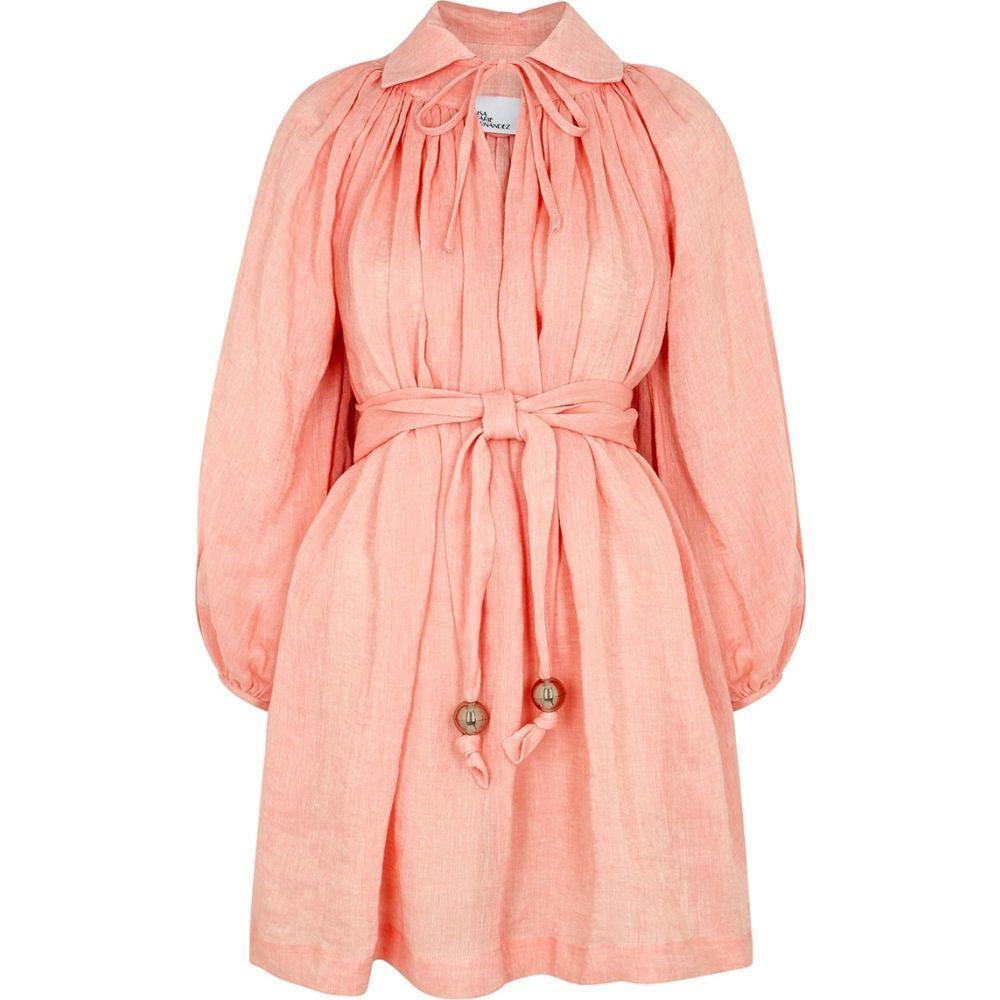 リサ マリー フェルナンデス Lisa Marie Fernandez レディース ワンピース ミニ丈 ワンピース・ドレス【Poet Pink Linen Mini Dress】Pink