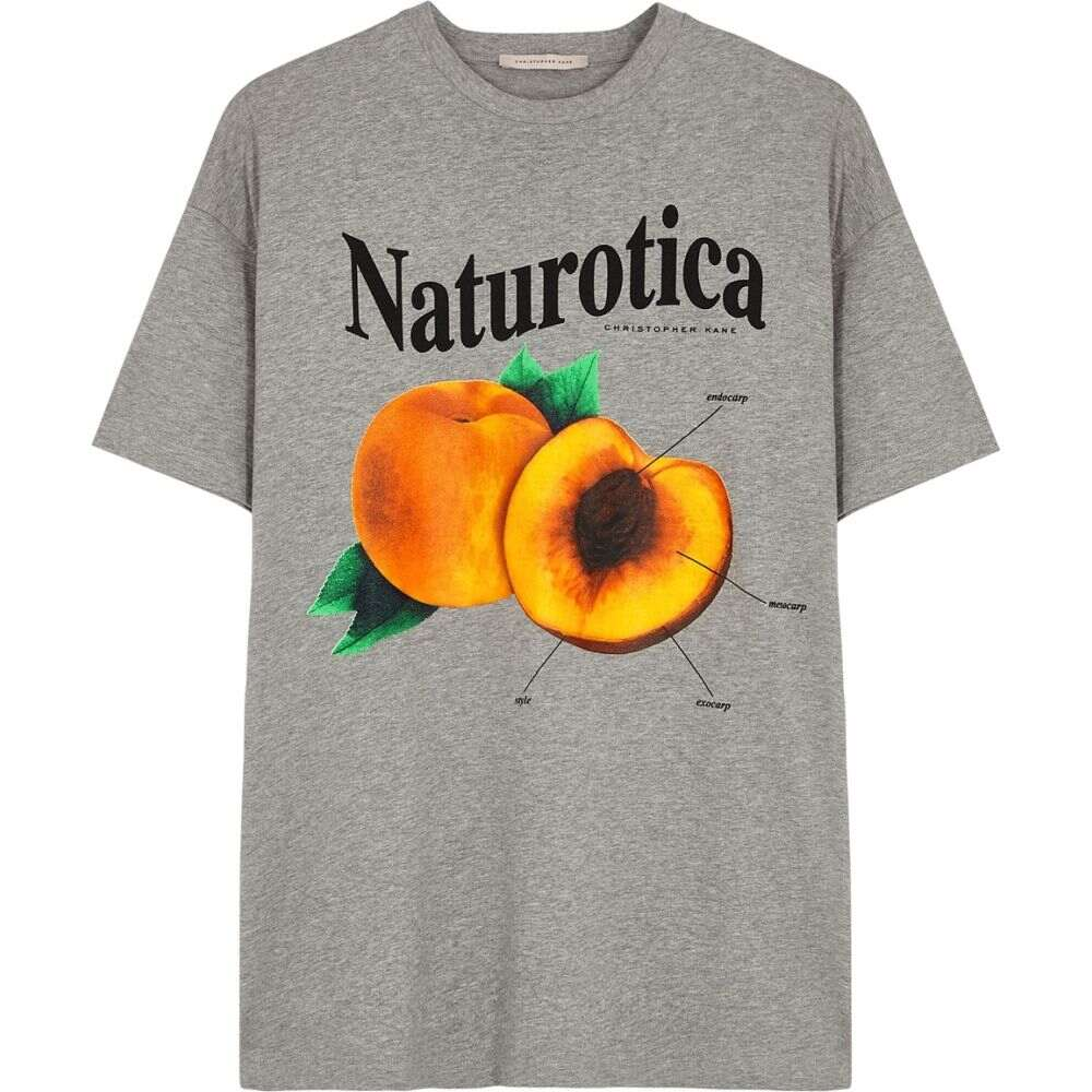 クリストファー ケイン Christopher Kane レディース Tシャツ トップス【Naturotica Printed Cotton T-Shirt】Grey