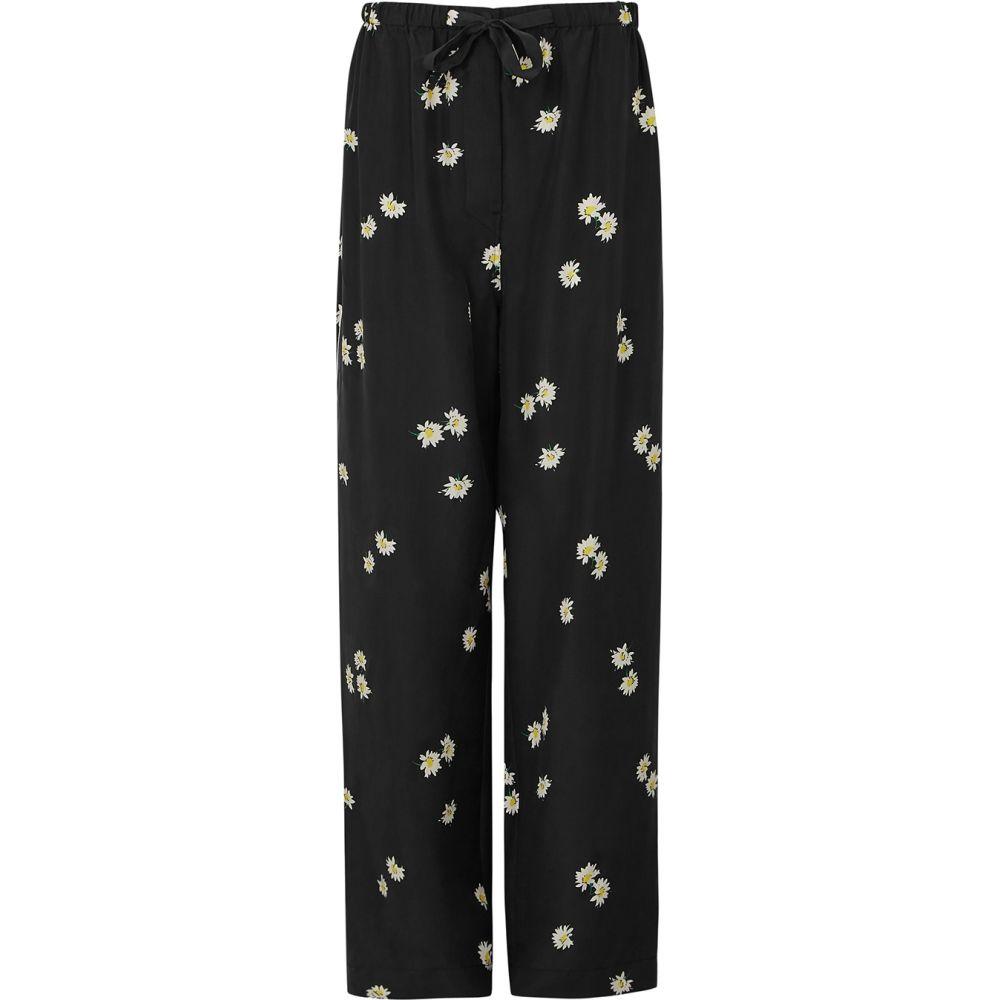 マーク ジェイコブス Marc Jacobs レディース パジャマ・ボトムのみ インナー・下着【The Pyjama Black Printed Silk Trousers】Black