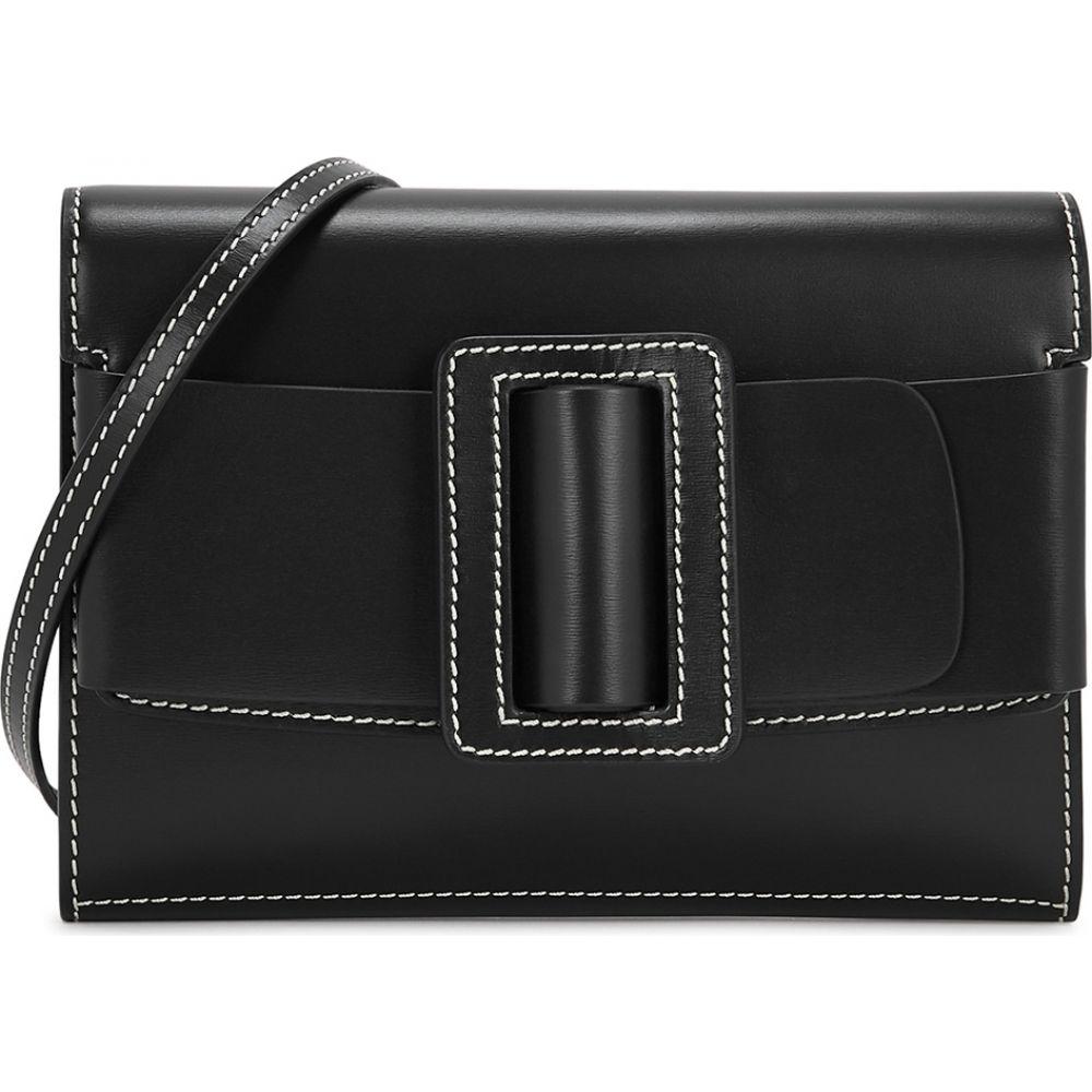 ボーイ Boyy レディース ショルダーバッグ バッグ【Buckle Big Stitch Black Leather Cross-Body Bag】Black