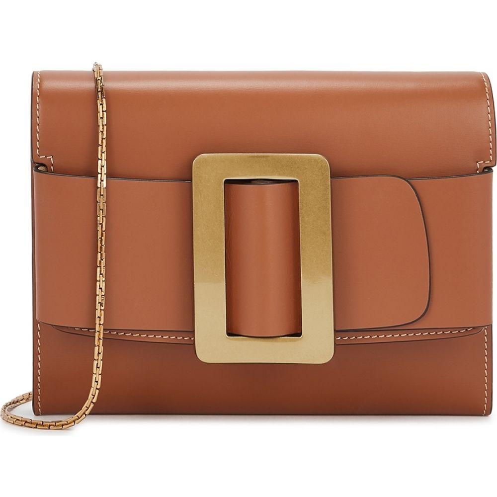 ボーイ Boyy レディース ショルダーバッグ バッグ【Buckle Brown Leather Cross-Body Bag】Brown