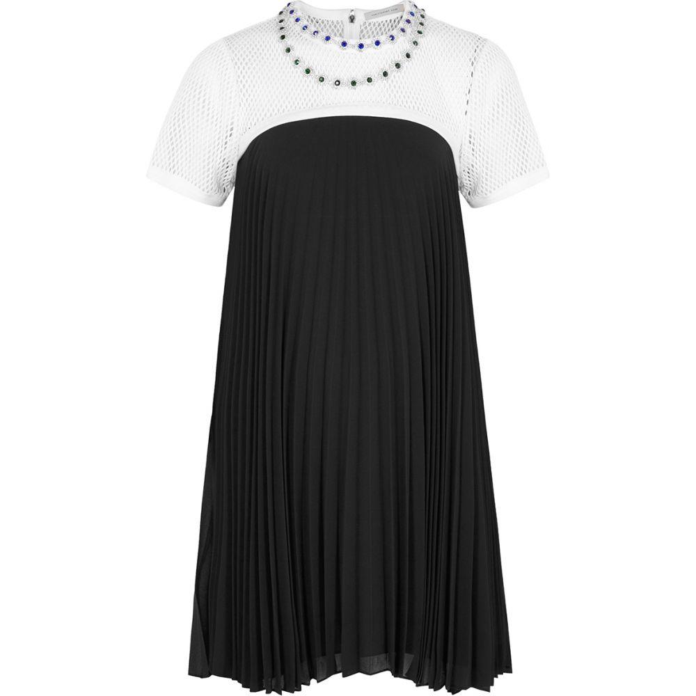 クリストファー ケイン Christopher Kane レディース ワンピース ミニ丈 ワンピース・ドレス【Monochrome Embellished Chiffon Mini Dress】Black