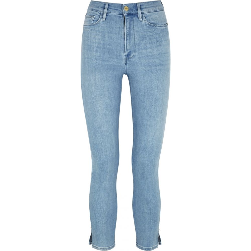 フレーム Frame レディース クロップド ボトムス・パンツ【Ali Blue Cropped Skinny Jeans】Blue