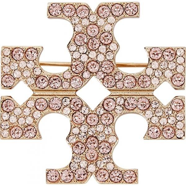 トリー バーチ Tory Burch レディース ブローチ ジュエリー・アクセサリー【Gold-Tone Crystal Embellished Brooch】Gold
