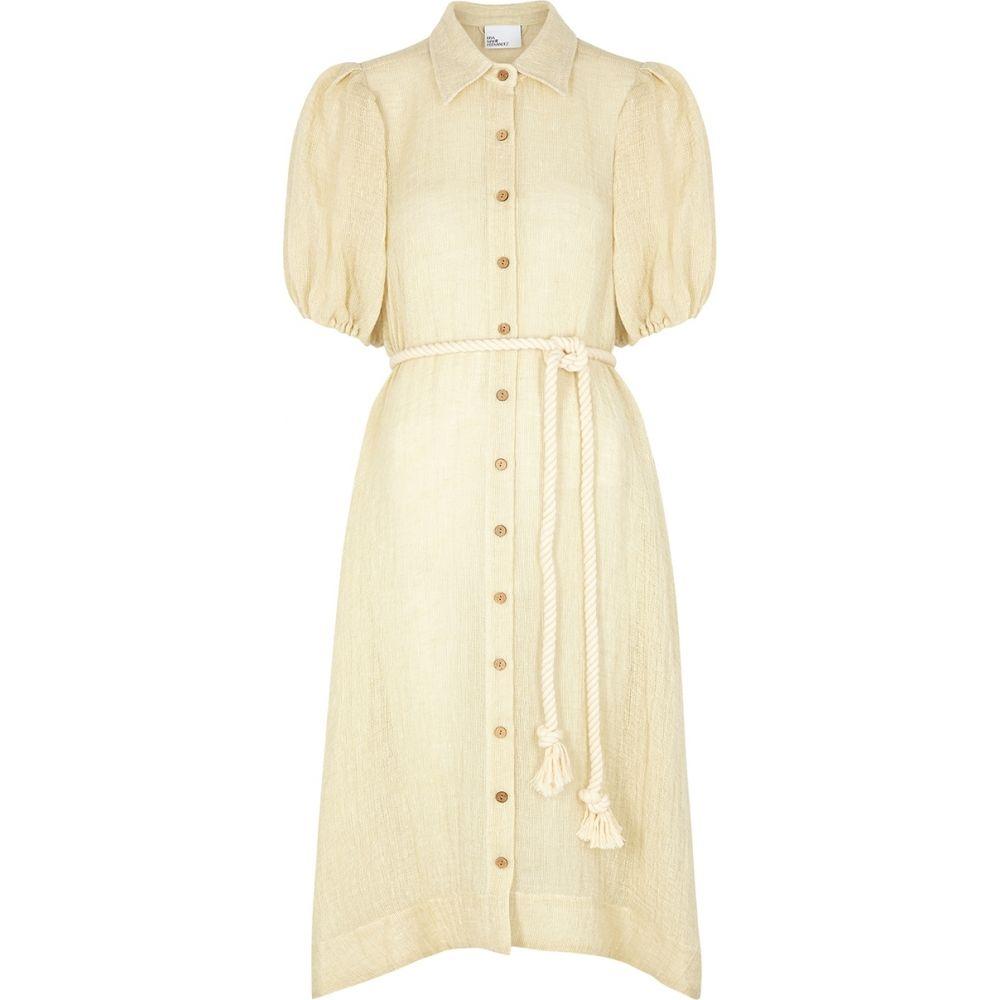 フェルナンデス Fernandez 水着・ビーチウェア【Pouf リサ Linen-Blend Marie Dress】White ビーチウェア マリー Lisa レディース Shirt シャツワンピース Ecru