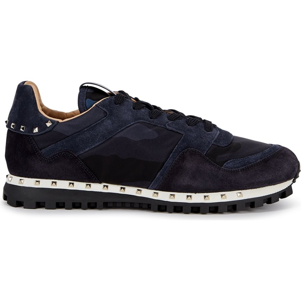 ヴァレンティノ Valentino メンズ スニーカー シューズ・靴【Garavani Rockrunner Camouflage Suede Sneakers】Navy