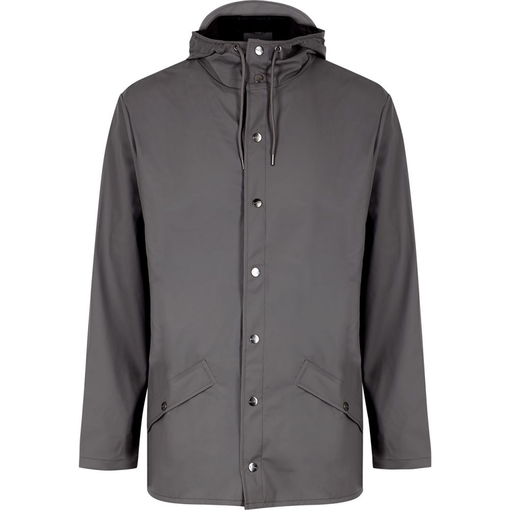 レインズ Rains メンズ レインコート アウター【Grey Water-Resistant Rubberised Raincoat】Grey