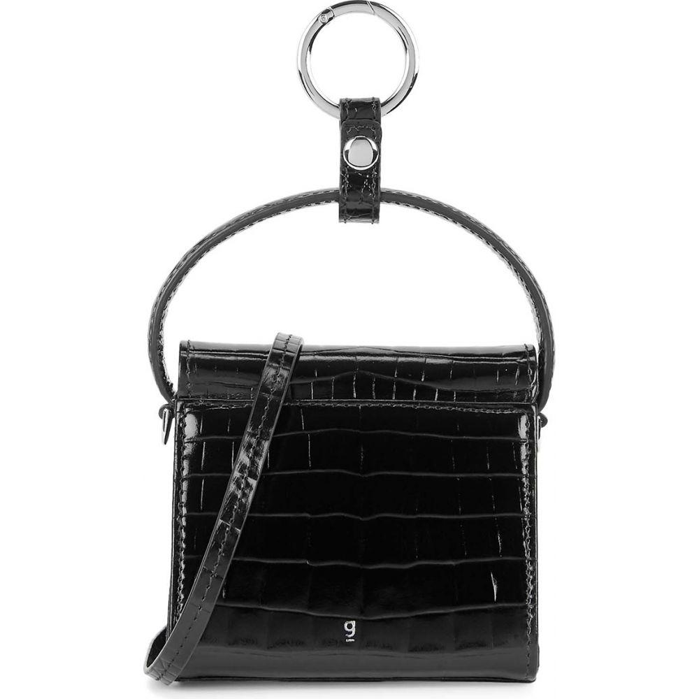 Gu_de レディース ショルダーバッグ バッグ【Play Mini Crocodile-Effect Cross-Body Bag】Black