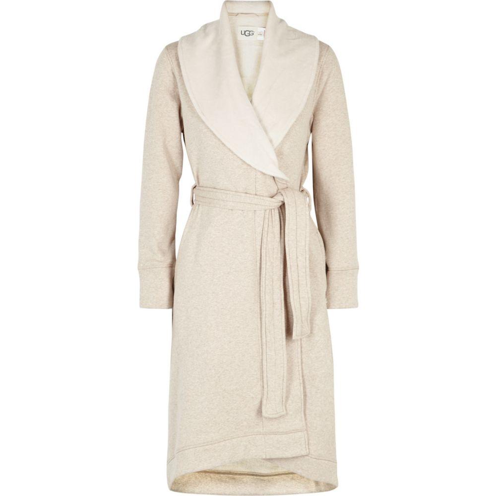 アグ UGG レディース ガウン・バスローブ インナー・下着【Duffield Ii Fleece-Lined Cotton Jersey Robe】Natural