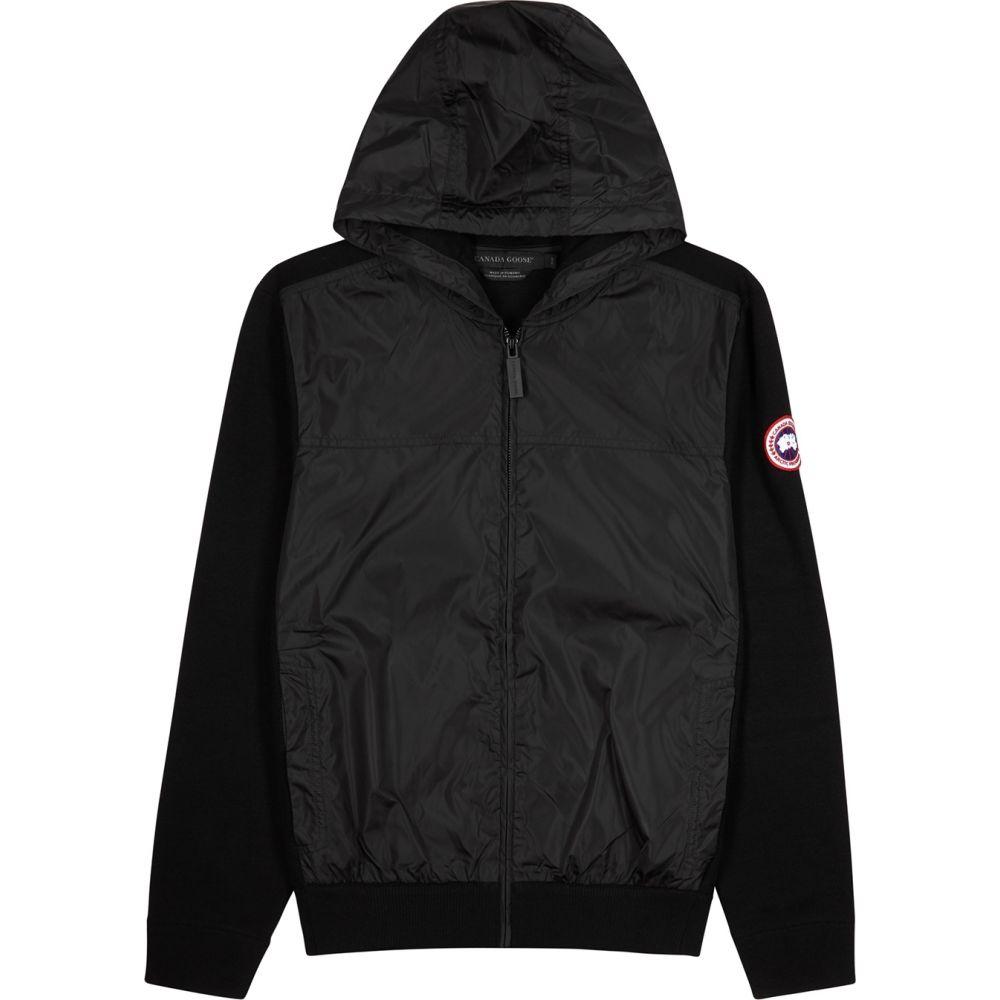 カナダグース Canada Goose メンズ ジャケット シェルジャケット アウター【Windbridge Black Wool And Shell Jacket】Black