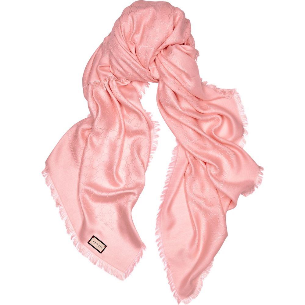 グッチ Gucci レディース マフラー・スカーフ・ストール 【Ataria Gg-Jacquard Silk-Blend Scarf】Pink