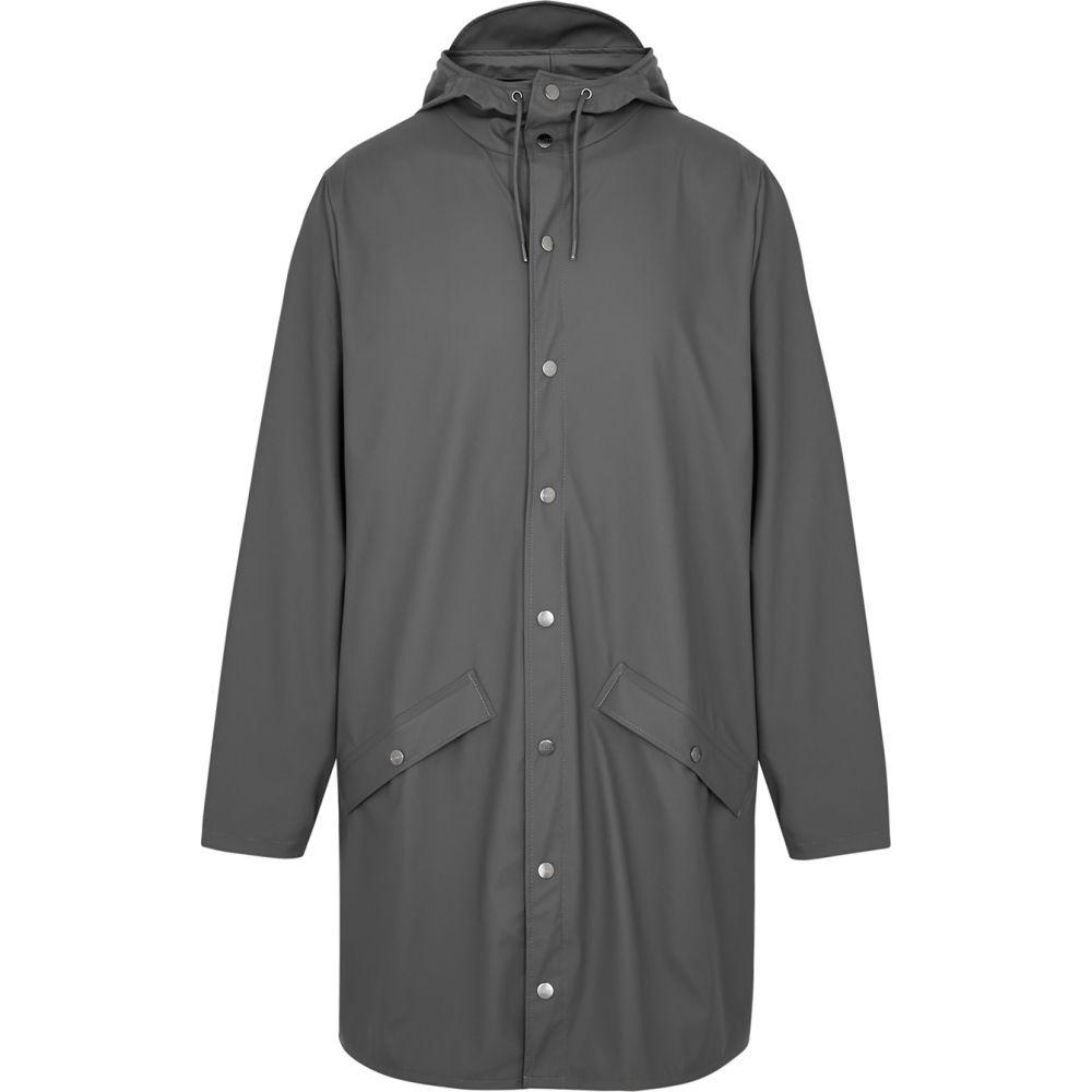 レインズ Rains メンズ レインコート アウター【Charcoal Rubberised Raincoat】Grey