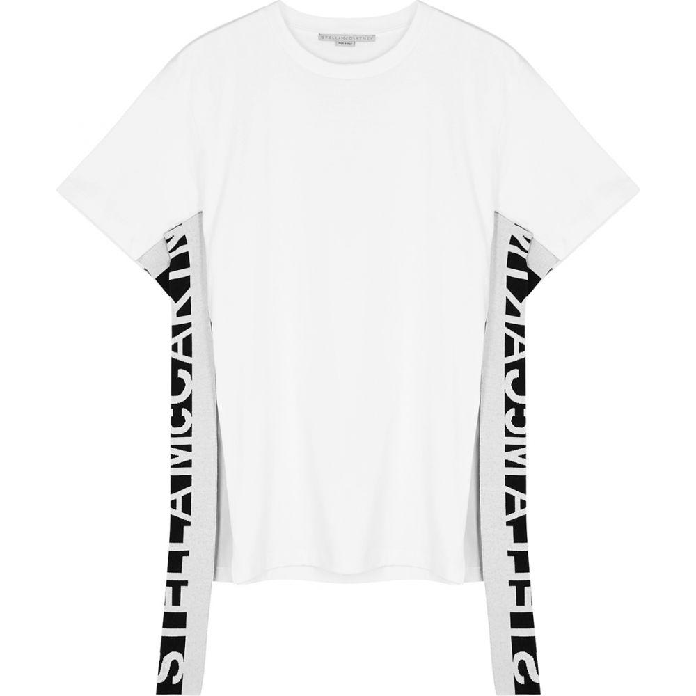 ステラ マッカートニー Stella McCartney レディース Tシャツ トップス【White Logo Cotton T-Shirt】White