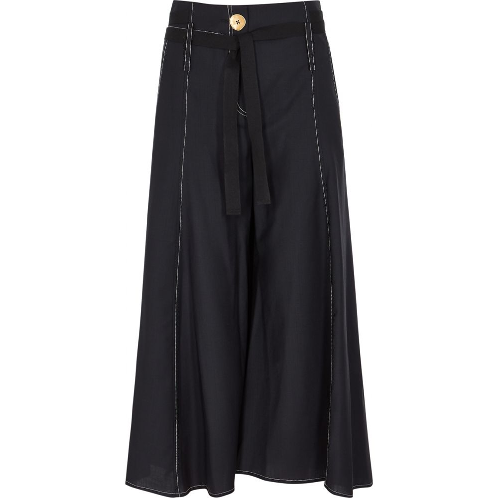 ユードン チョイ Eudon Choi レディース ボトムス・パンツ 【Lewitt Navy Wide-Leg Wool Trousers】Navy