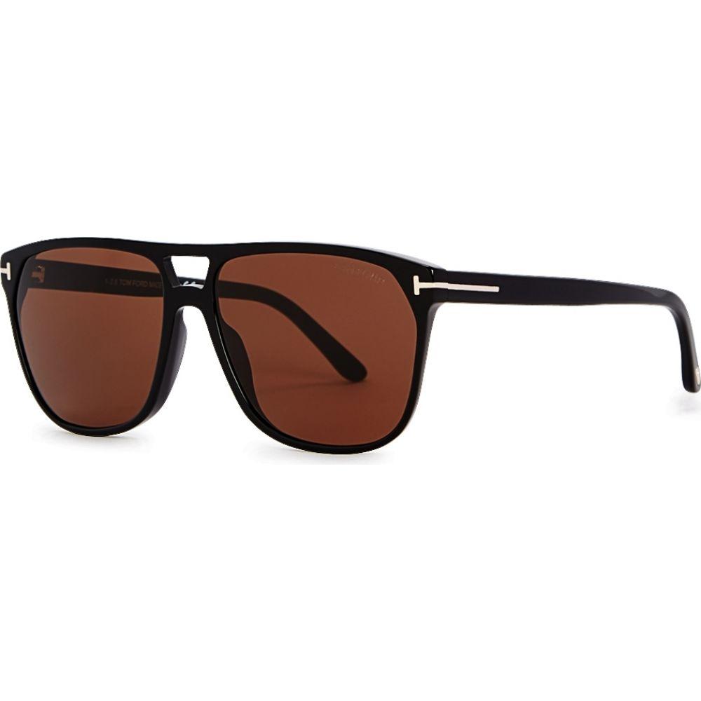 トム フォード Tom Ford Eyewear レディース メガネ・サングラス 【Black Aviator-Style Sunglasses】Black
